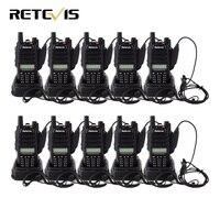 10 шт. рация Retevis RT6 IP67 Водонепроницаемый 5/3/1 Вт VOX FM радио двухдиапазонный УКВ UHF радиолюбителей КВ трансивер удобный