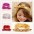 Gold Baby Headband Girls Headwrap Fancy Shiny Stretchy Headband Turban Head Wrap Knott Hedband Children Hair Accessories 7Color