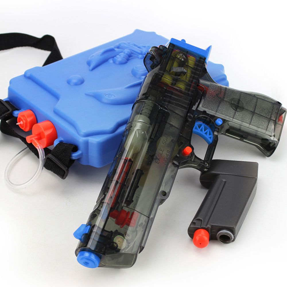Summer Children Backpack Water Gun Toy Beach Electric High-pressure Continuous Shooting Electric High-pressure Water Toy