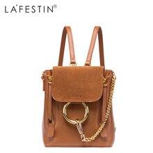 Lafestin кожаный рюкзак мини женщины холст лоскутная рюкзак девушки школьные сумки натуральная кожа сзади рюкзак Mochilas