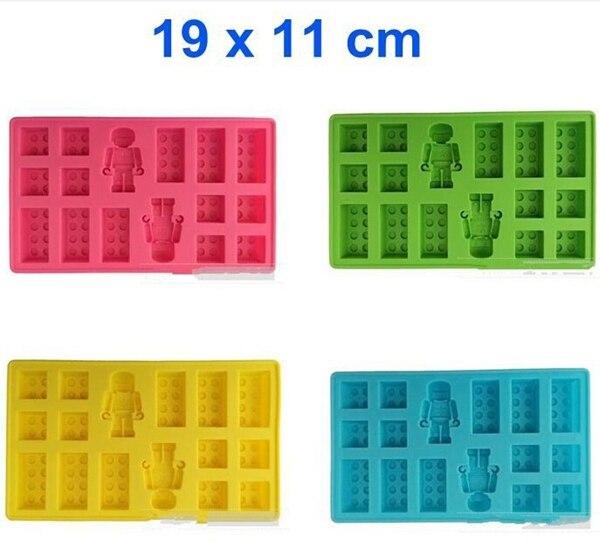 Nieuwe Collectie! 100% Food Grade Lego Baksteen Blokken Ice Cube Laden Mold Robot Ijs Schimmel Lade