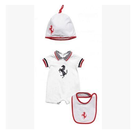 3 pcs crianças meninos das meninas do menino romper + chapéu + babadores 2015 verão bebê recém-nascido romper macacões infantil geral novo roupas de bebê nascidos