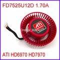 Frete Grátis Firstdo FD7525U12D 1.70A 12 V Para ATI HD6970 HD7970 Placa Gráfica Cooler Fan 4Pin 4 Fios