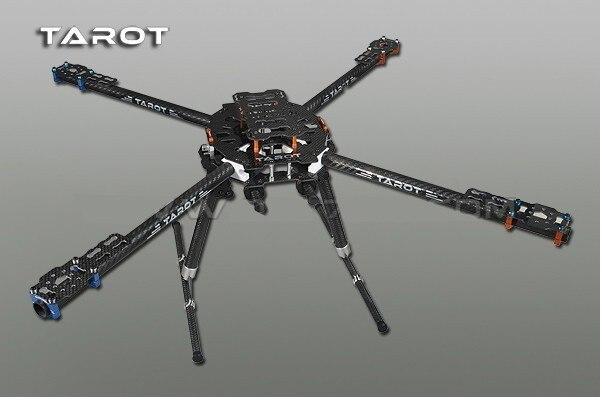 Tarot fer Man 650 pliable 3 K carbone CNC Quad copter quadrirotor cadre TL65B01