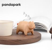Dog Shape Wooden Artware Wood Music Box Hand Cranked Classical Black Walnut Canon Music Box Creative Girls Gift 1 Piece PPM034