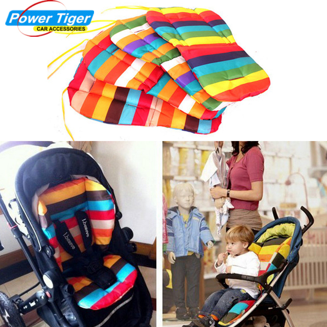 New Colorful Waterproof Infant Baby Stroller Cushion Pad Pram Padding Car Seat Cover Rainbow
