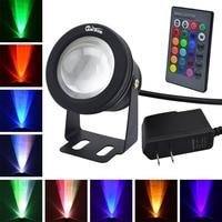 IP67 Waterproof LED Underwater Light 10W RGB Light DC 12V Aquarium Swimming Pool Spotlight DC12VPower Kit