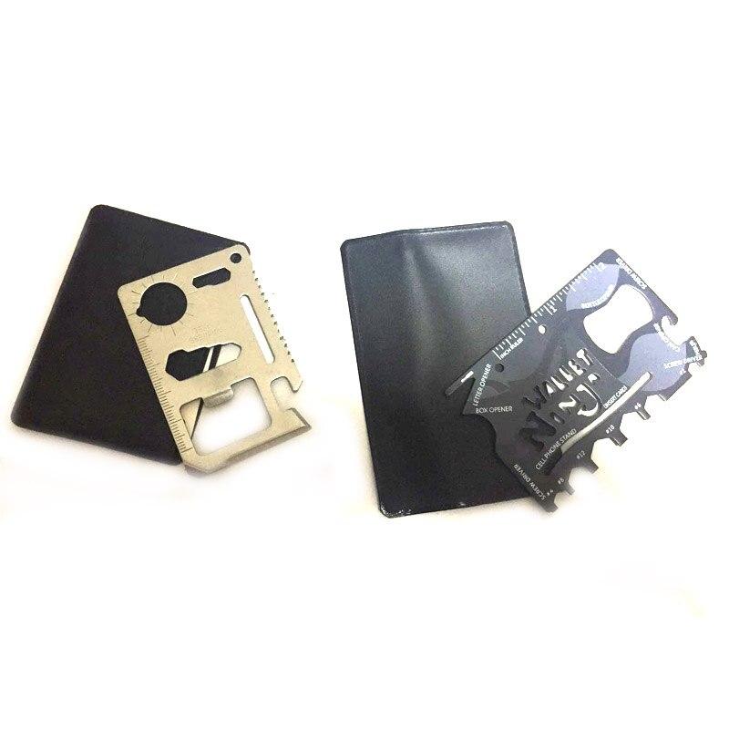 1PCS Silver Credit Card Knife Or Black Ninja Wallet Pocket Knife Multifunctional Multi Tool Multitool Camping Survival Tools