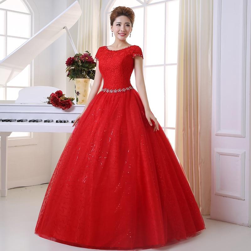 2017 Summer Vestidos De Novia Real Fotografie Lace Red White Lace - Rochii de mireasa - Fotografie 4