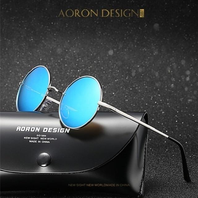 0d24a09c9ee Cat eyes Classic Polarized Round Sunglasses Men Small Vintage Retro Mirror  Glasses Women Alloy Frame Eyewear Brand