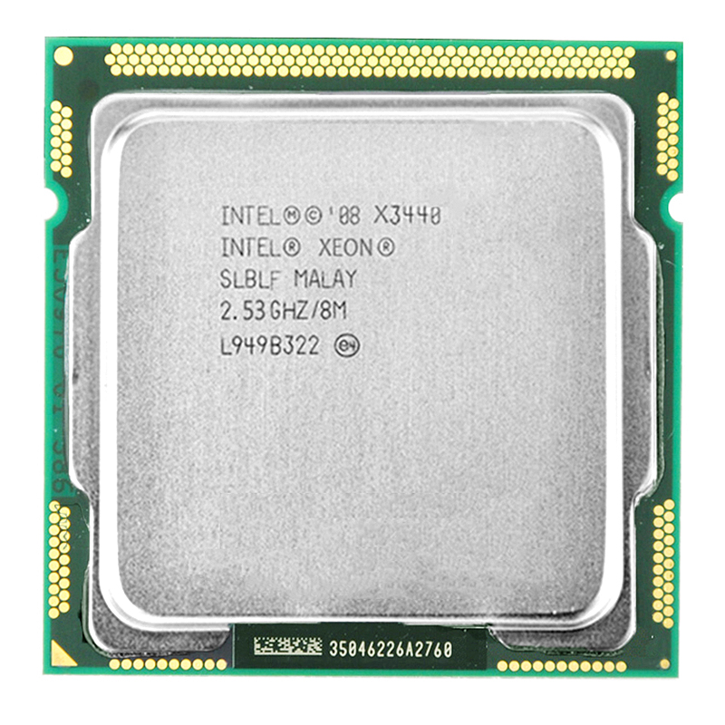 Intel Xeon X3440 CPU Xeon <font><b>Processor</b></font> X3440 (8M Cache, 2.53 <font><b>GHz</b></font>)) LGA1156 Desktop CPU image