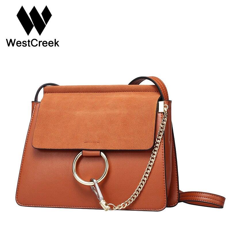 ФОТО Westcreek Brand Women Retro Famous Brand Classic Cowhide Leather Chain Messenger Bag Luxury Cowskin Handbags England Style Bags