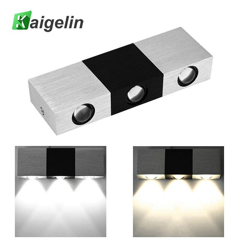 Kaigelin taisnstūrveida modelis 85-265V 3W LED sienas apgaismojums alumīnijs + akrila sienas lampa iekštelpu āra dārza sienas dekoratīvais apgaismojums