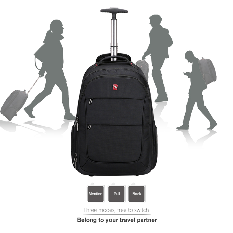 OIWAS Trolley Backpack Luggage Rolling Large Capacity Oxford Travel Bag Waterproof Business Suitcase Wheels OCB4318 universal uheels trolley travel suitcase double shoulder backpack bag with rolling multilayer school bag commercial luggage