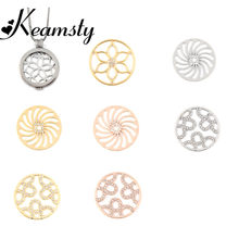 Keamsty Mi Moneda 33mm Coins Crystal Glass Zinc Alloy Disc Coin for Coin Holder Pendant Women Necklace(China)