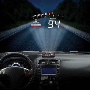 Image 5 - GEYIREN 2019X5 OBD2 Head Up Дисплей Скорость ometer лобовое стекло проектор об/мин Скорость автосигнализации ЕС OBD HUD дисплей автоматический электронный