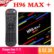 Android 8.1 TV Box H96 MAX Plus 4G/64G RK3328 Smart Media Player Quad Core 2.4G/5G Wifi 4K USB 3.0 4K TV BOX H96 Max+ iptv box цена