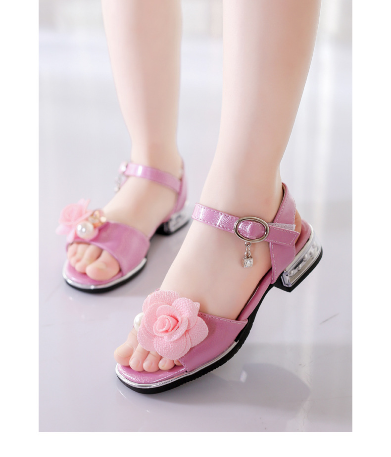 Generous Childrenkids Girls Cute Childrens Shoes 2018 Summer New Kids Crystal Bowknot Pearl Princess Dance Single Casual Shoes #5 Matching In Colour Pearl