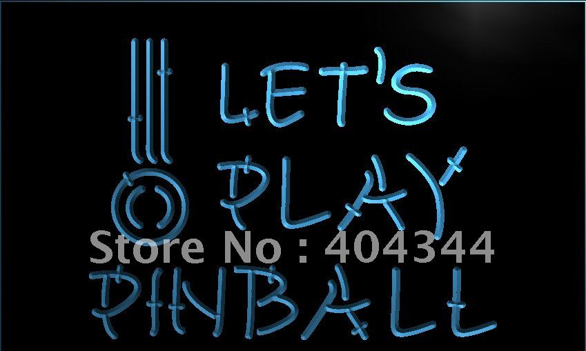 Lm011 let 39 s play pinball game room bar led neon light sign for Room decor neon signs