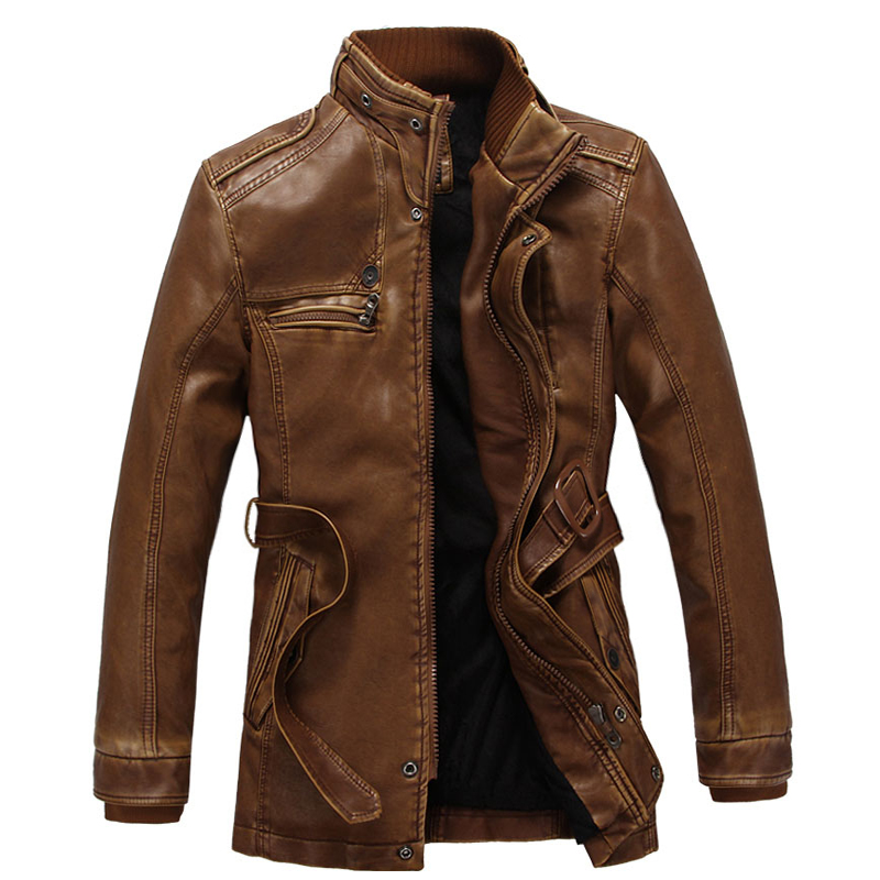 2017 New Arrival Autumn Winter font b Leather b font font b Jacket b font Warm