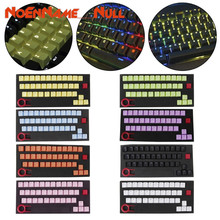 Mechanical Keyboard replaceable Keycaps PBT 37 Keys Double shot Translucidus Backlit Keycaps for Mechanical Keyboard