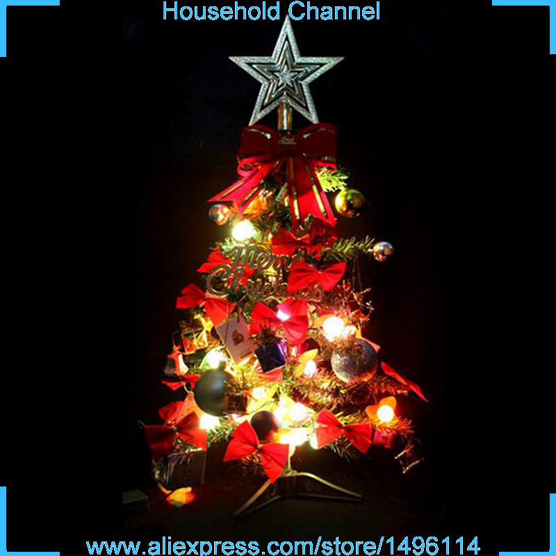 Artificial 60cm Christmas trees with LED Multicolor Lights Holiday Party Decorations New Year Festival arvore de natal Ornaments