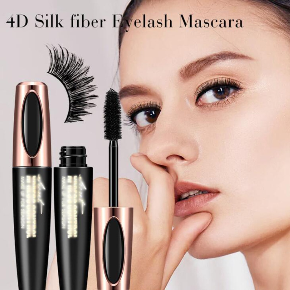 2018 Makeup Eyelash Mascara Eye Lashes makeup 4d silk fiber lash mascara Drop Shipping