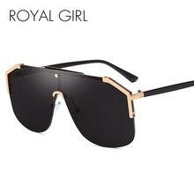 Royal Girl 2019 New Luxury Square Sunglasses Women Vintage Brand Designe Oversized Sun Glasses Men Female Metal Shade ss610