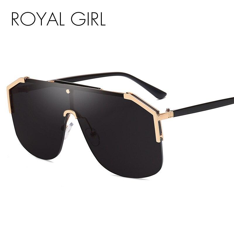 Royal Mädchen 2020 Neue Luxus Quadrat Sonnenbrille Frauen Vintage Marke Designe Übergroßen Sonnenbrille Männer Weibliche Metall Schatten ss610