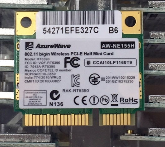 SSEA Wholesale AzureWave AW-NE155H AW-NU168H RT5390 Half Mini PCI-Express Wireless Card