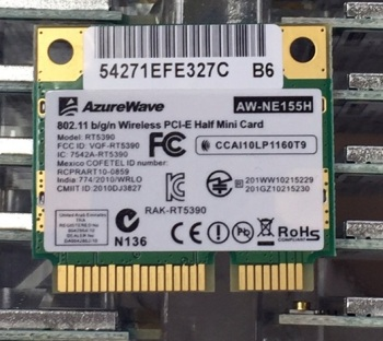 SSEA Wholesale AzureWave AW-NE155H AW-NU168H RT5390 Half Mini PCI-Express wireless card