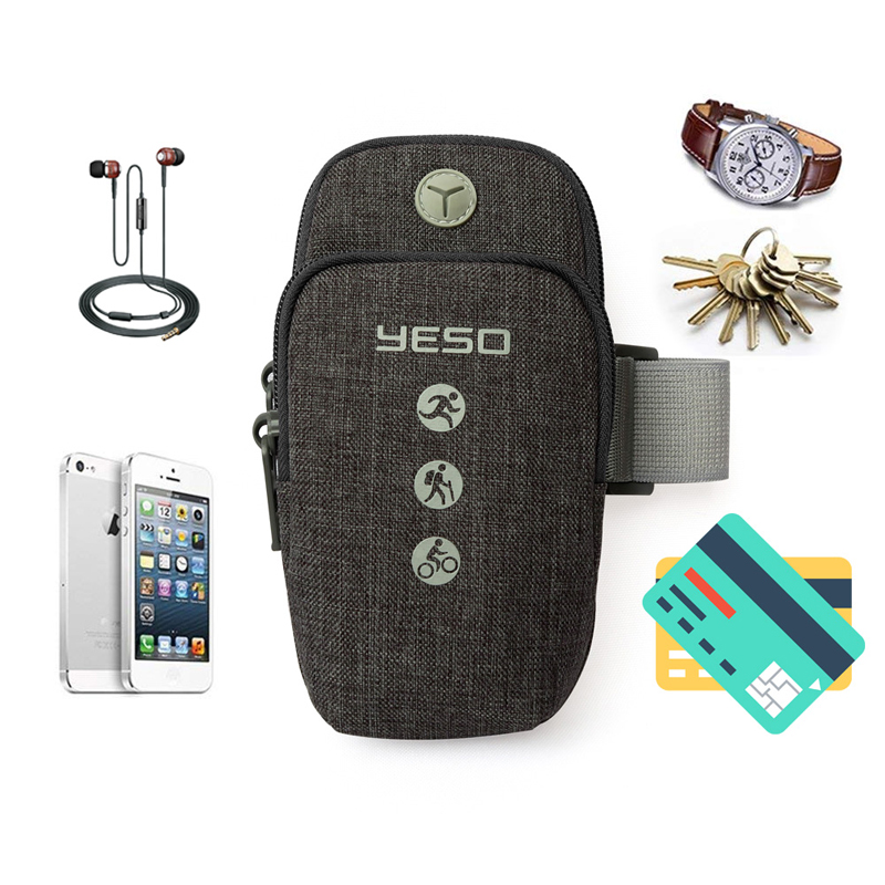 Clearance Sale÷YESO Armbands-Cover Earphone-Hole Running-Arm-Bags Jogging for Climbing Gym with Sports