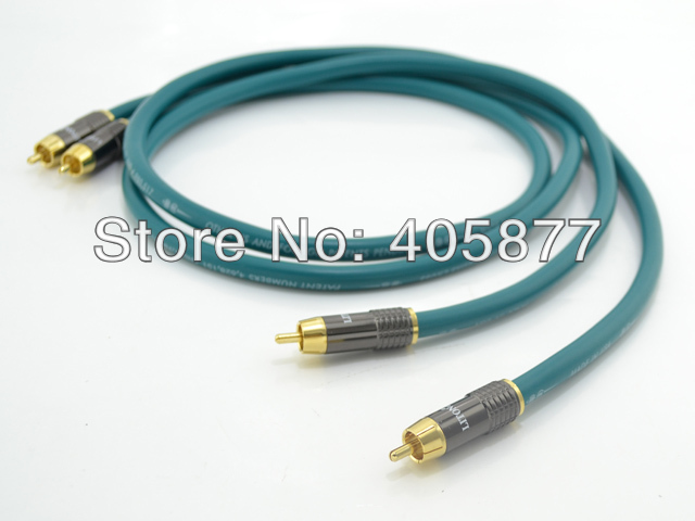 1.5M Pair viborg audio Cross RCA audiophile cable with DIY RCA plug