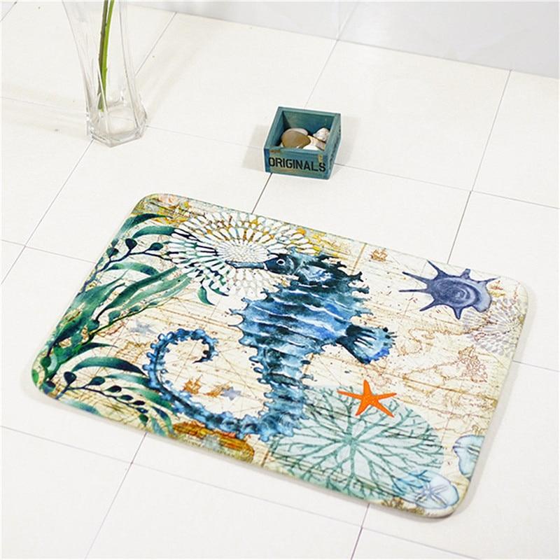 40x60 cm Animal Waterproof Anti-Slip Floor Mat Ocean Sea Octopus Carpets Bedroom Rugs Decorative Stair Mats Home Decor Textile