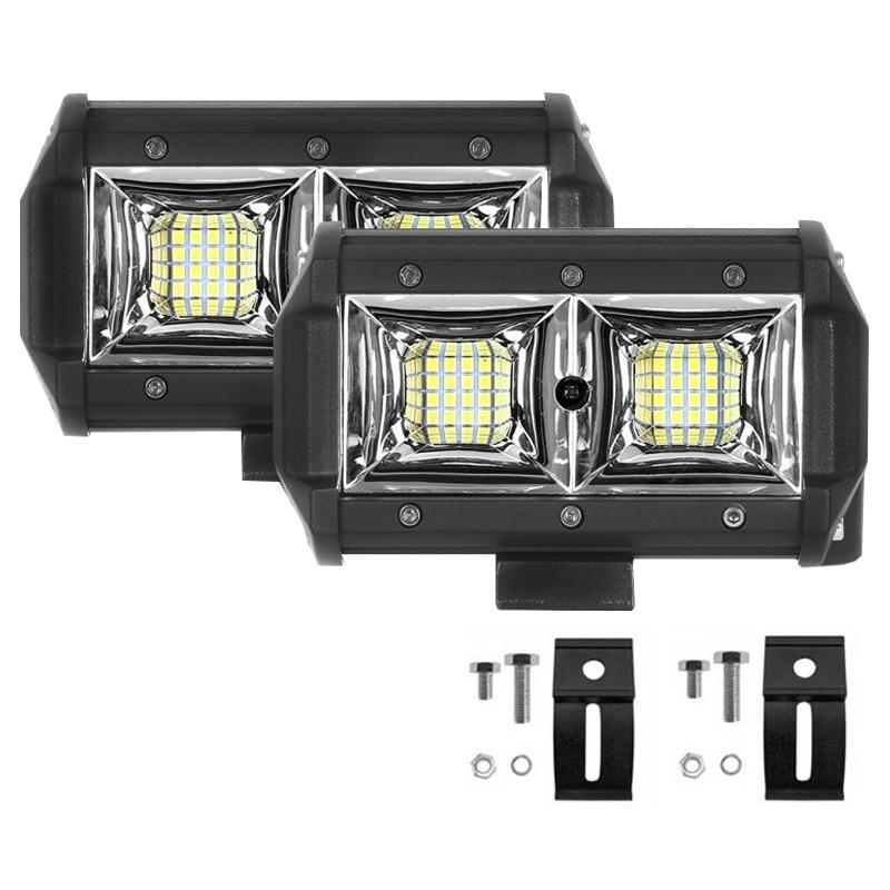 HAWEE 27W LED Faro Antiniebla Offroad Faro LED Luz de Trabajo DRL Luces Diurnas Focos LED Luz de Inundaci/ón Impermeable IP68 para Cami/ón Off Road Jeep 4x4s SUV UTV ATV Motocicleta Tractor Barco