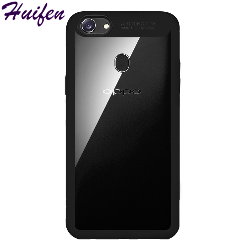 For OPPO F5 Case A73 A73T Luxury Slim Back Cover Luxury TPU Silicone PC Acrylic Transparent Phone Bag For OPPO F 5 Funda (L102)