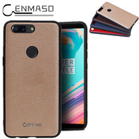 One Plus 5T Case Genuine Leather Back Cover For OnePlus 5T Case One Plus 5 Phone