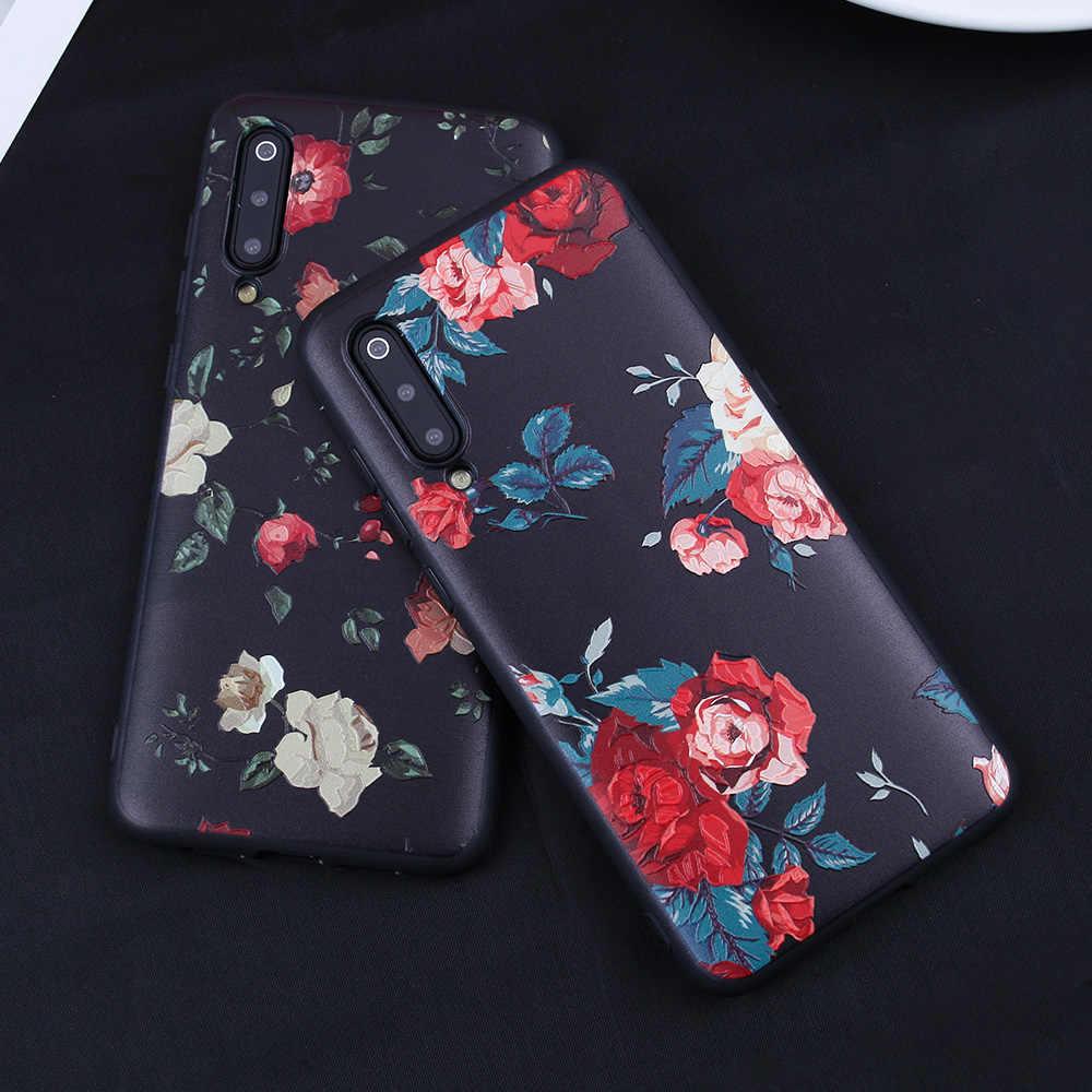Coque florale pour Xiao mi rouge mi Note 7 6 5 Pro 5 Plus 5A S2 coque en silicone TPU souple de luxe pour Xiao mi mi 8 mi 9 mi A1 A2 Lite 6X 5X A1