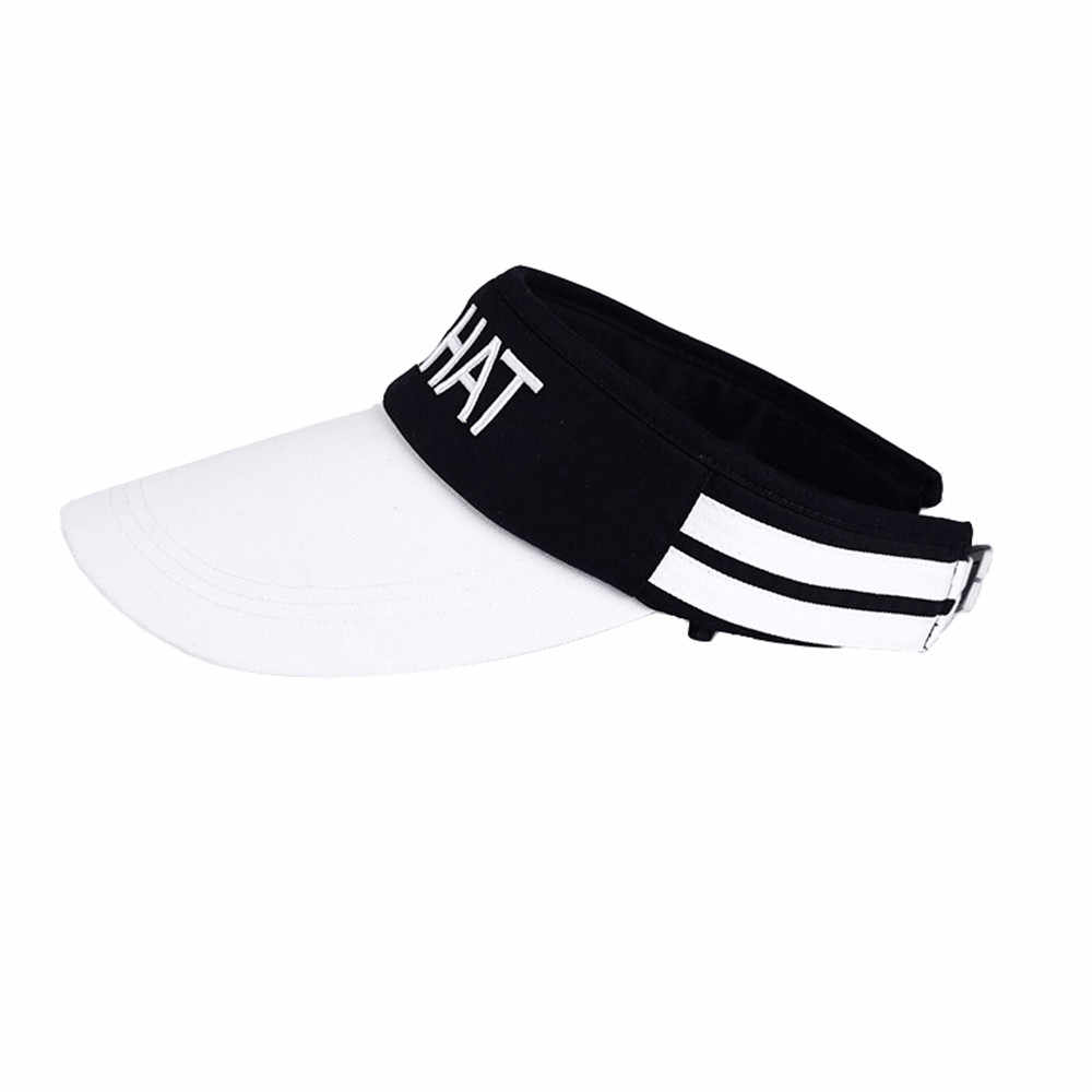 MUQGEW head bands ผู้ชายผู้หญิง Kmqhat พิมพ์กีฬา Headband Classic Sun หมวกกีฬา Visor หมวก barrette cheveux ผู้หญิง # y2