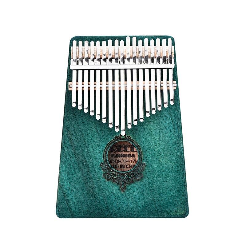 17 Teclas De Madera De Caoba Pulgar Piano Tamaño De Bolsillo Dedo Percusión Regalos De Navidad Mini Teclado Niños Estilo Instrumentos Musicales
