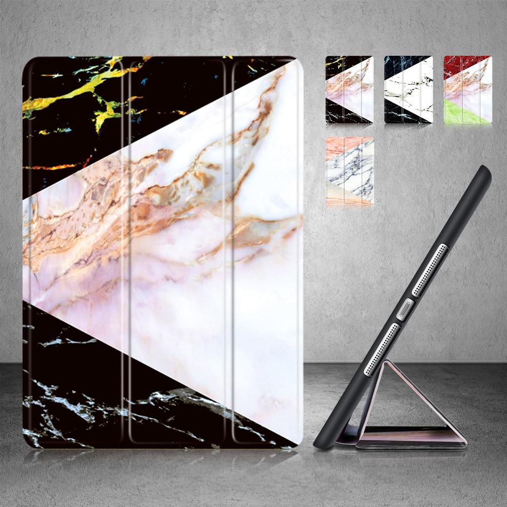Case For Ipad Mini 1 Mini 2 Mini 3 Painted Marble Pattern PU Leather Cover+TPU Silicone Smart Auto Sleep Wake Tablet Case
