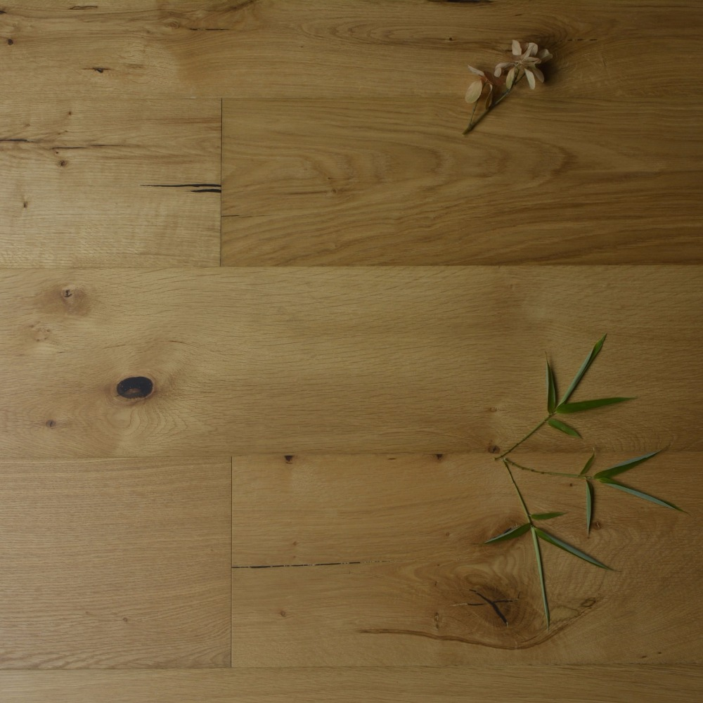 TWO PIECES Brown Color European Oak Engineered Wood Flooring Small Piece As SAMPLE