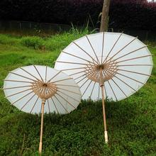 24pcs/lot Children Style Paper Umbrella Mini Solid Color Parasols Photography Advertisement Accessories H105S