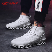 2018 Big Size 39-44 Men Sneakers Blade Shoes Breathable Krasovki Walking Woven Mesh Trainers Male Adult High Quality