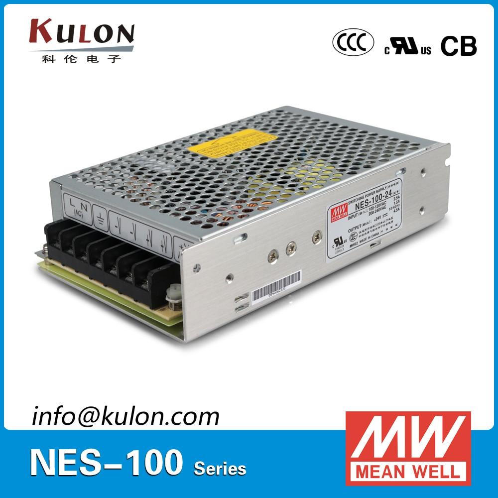 Original Meanwell NES-100-24 Single output 100W 4.5A 24V Mean well Power Supply Unit NES-100 original mean well nes 350 12 ac to dc single output 350w 29a 12v meanwell power supply nes 350
