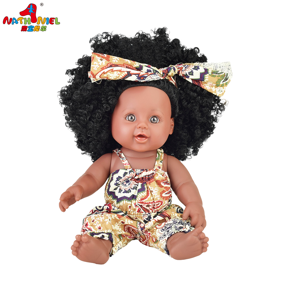 pop BRAZIL! 12inch black baby dolls lol reborn silicone vinyl 30cm newborn poupee boneca baby soft toy girl kid Nathniel todder