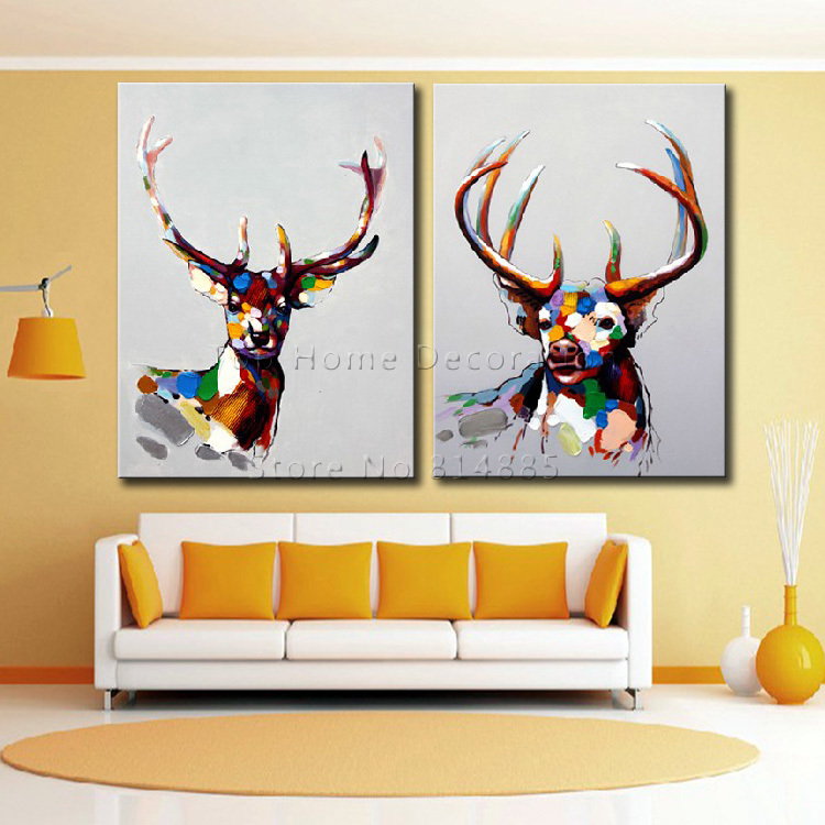 The Antelope Art Canvas Painting Texture 100% Hand painted Abstract ...
