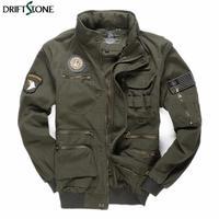Mens Army Pilot Jackets Multipocket Aeronautica Militare Bomber Jacket Men Removable Sleeve Tactical Military Uniform Coat