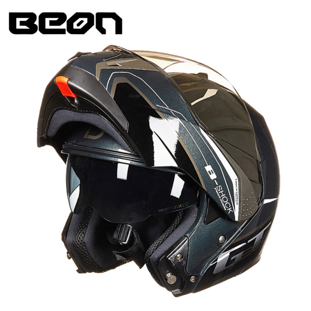 ecddae09249d8 BEON Modular Motorcycle Helmet Flip up Open Full Face Helmet Moto Casque  Casco Motocicleta Capacete Dual Visors Helmets ECE