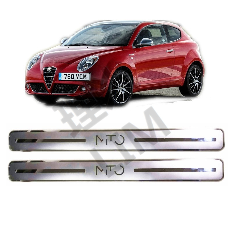 2 Pieces Suitable For Alfa Romeo Mito Stainless Steel Scuff Plate Door Sill Cover Trim Car Styling Accessories